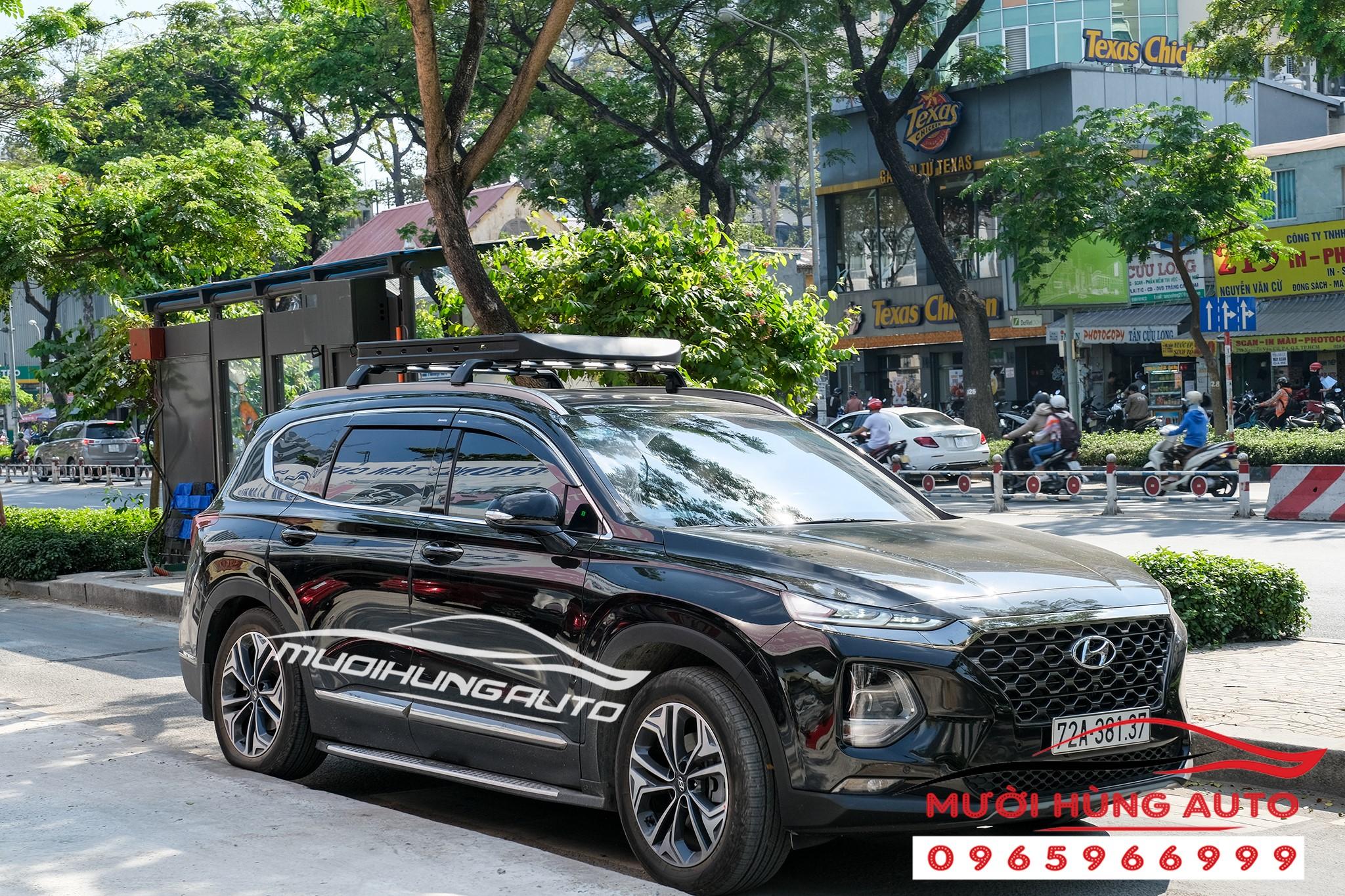 lắp đặt Baga vuông zin theo xe Hyundai Santafe 2019-2020
